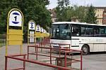 Autobusové nádraží ve Dvoře Králové nad Labem.