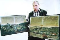 """OBĚ VEDUTY přesně ztvárňují krajinu a poskytují tak jedinečný pohled na město. """"Ani deset popsaných stránek neřekne tolik, jako jeden takovýhle obraz,"""" říká ředitel muzea v Žacléři Daniel Mach."""