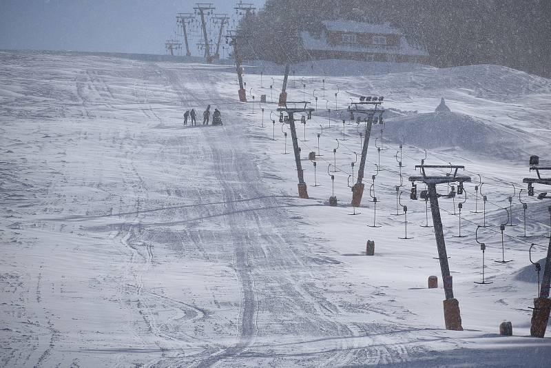 SkiResort Černá hora-Pec chce vybudovat na sjezdovce Javor v Peci pod Sněžkou novou šestisedačkovou lanovku.