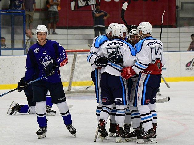 Vrchlabským hokejistům zajistila vítězství jediná branka zhole Aleše Půlpána (na snímku)
