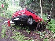 Havárie osobního automobilu v Lipnici.