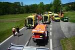 Vážná dopravní nehoda uzavřela komunikaci