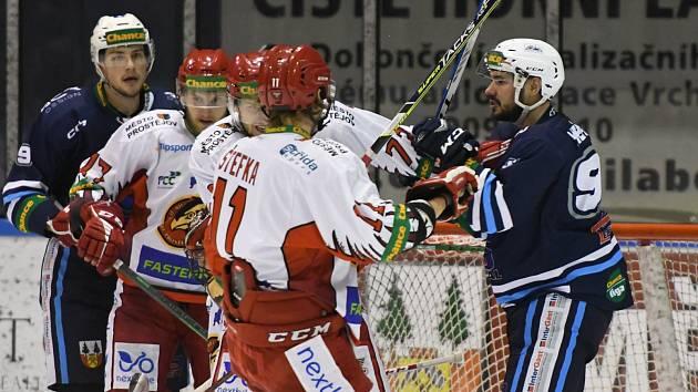Vrchlabským hokejistům se na soupeře z Prostějova dlouhodobě nedaří.
