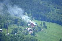 Požár chaty Horalka