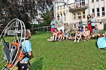 Malí paraglidisté - cvičení