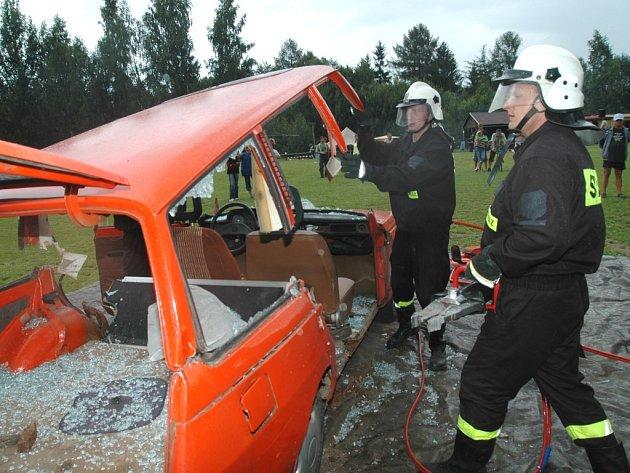 Oslavy hasičů v Lamperticích