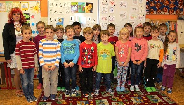 Žáci 1.třídy ZŠ a MŠ Radvanice