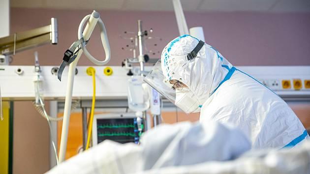 Covidové oddělení jednotky intenzivní péče