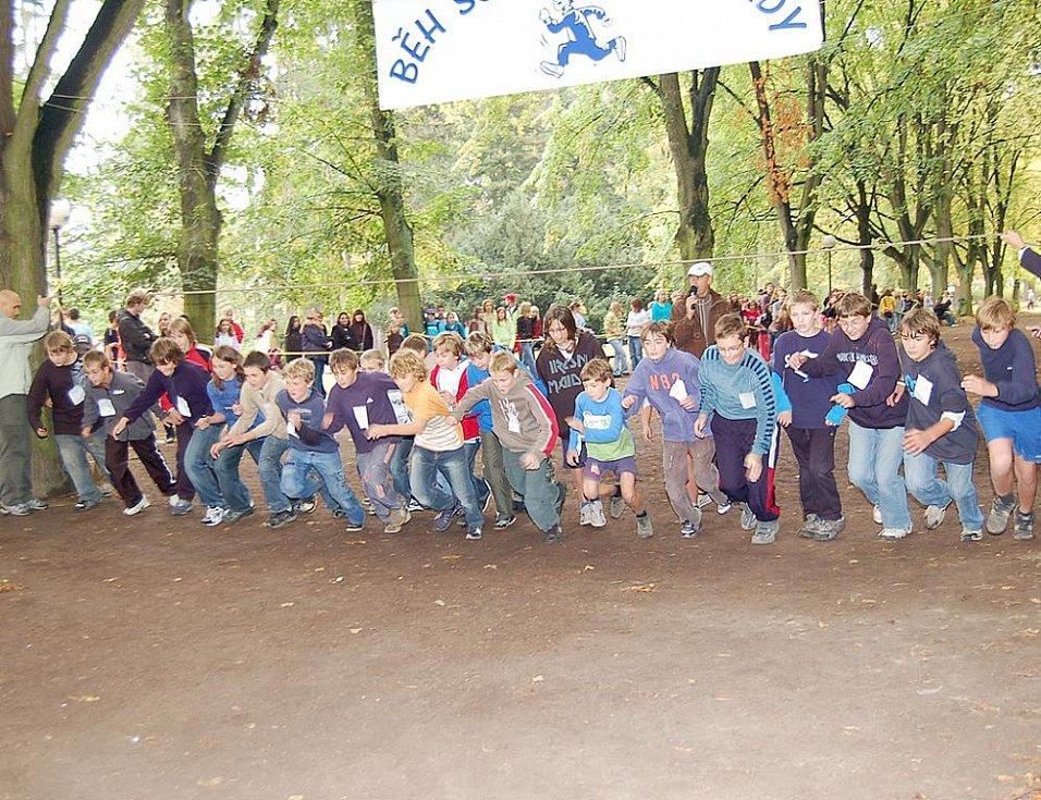 Běh Schulzovými sady ve Dvoře Králové - říjen 2009
