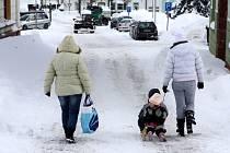 Sněhová nadílka v Černém Dole