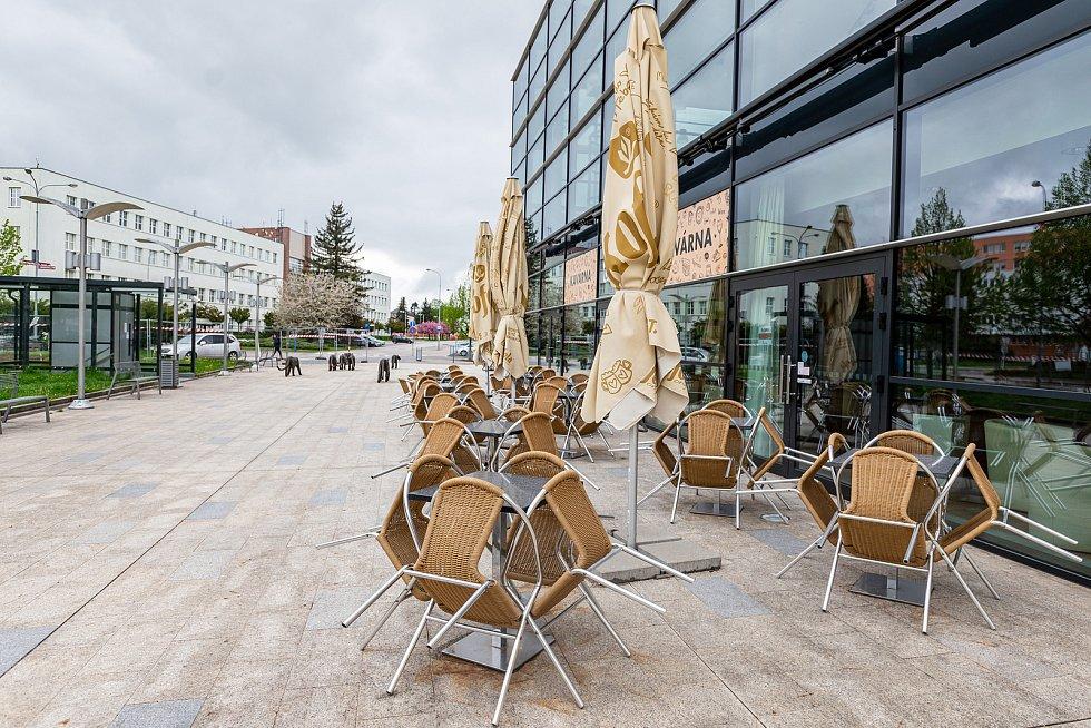 Kavárna Caffé Uffo v centru Trutnova.