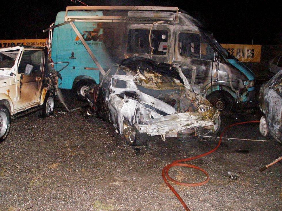 Havárie na Krkonošské ulici v Trutnově
