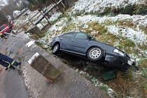 Nehoda v Bernarticích.