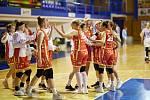 Utkání 7. kola RENOMIA ŽBL basketbalistek: BK Loko Trutnov - BLK Slavia Praha (79:82).