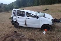 Tragická nehoda v Klášterské Lhotě.