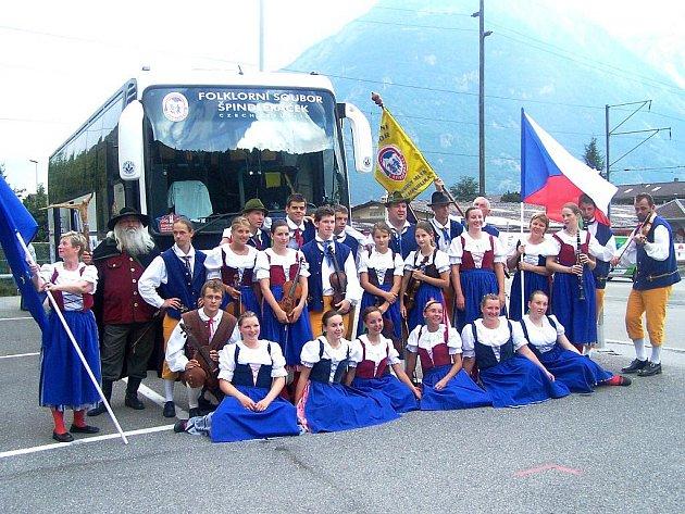 SOUBOR Špindleráček navštívil před dvěma lety 45. ročník Europeady ve švýcarském městě Martigny.