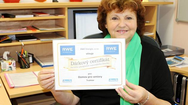 Dárkový certifikát na roční předplatné regionálního Deníku pro Domov pro seniory Trutnov.