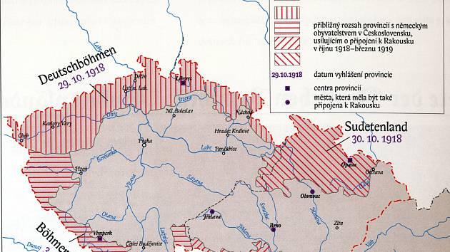 Místo k Československu se Trutnov a Vrchlabí připojily k samostatné provincii Deutschböhmen, která byla vyhlášena přesně před sto lety, 29. října 1918.