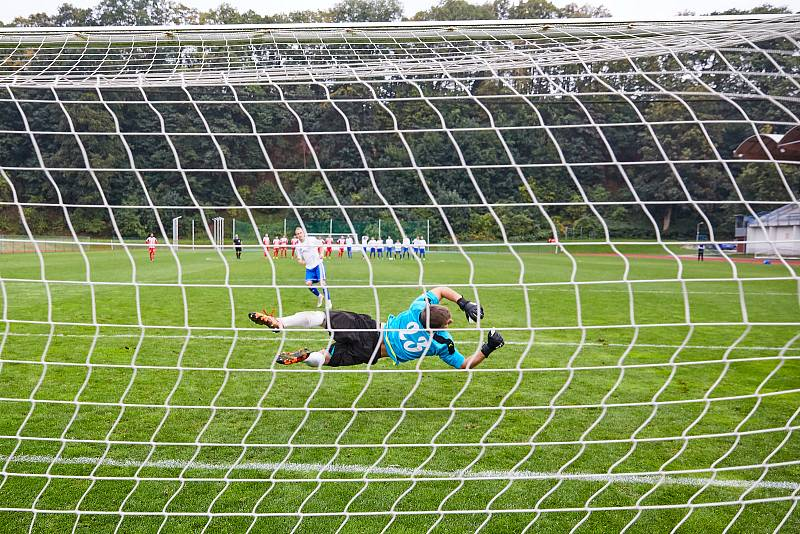 Fotbalisté Trutnova v souboji s favorizovaným Mšenem získali dva cenné body.