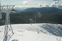 Na Sněžce je sníh už od čtvrtka.