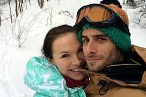 Kamila Nývltová s přítelem Tomášem Smičkou.