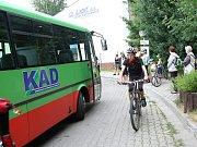První letošní jízda krkonošských cyklobusů.