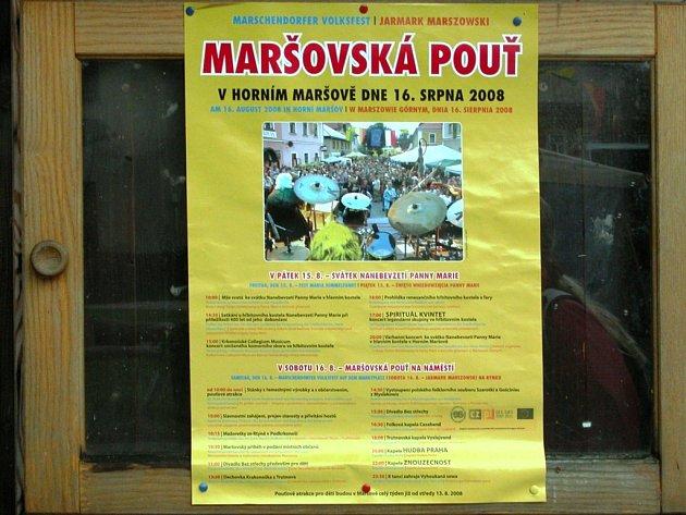Maršovská pouť - leták