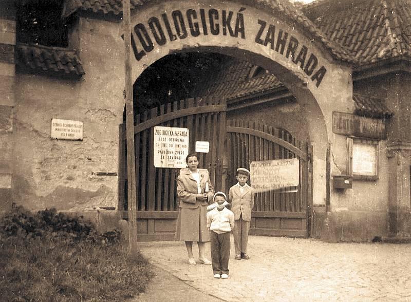 Brána do areálu zoologické zahrady v roce 1958.