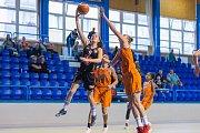 Z finálového duelu Ružomberok - Hradec Králové při basketbalovém turnaji O pohár města Trutnova.