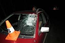 Nehoda na silnici II. třídy Nehoda na silnici č. 301 mezi obcemi Radvanice a Chvaleč.