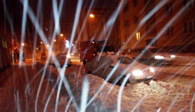 Ranní sníh vTrutnově