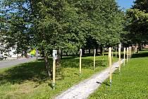 V parku v obci Chvaleč je až do konce října k vidění výstava k výročí 100 let od vztyčení pomníku obětem Velké války.