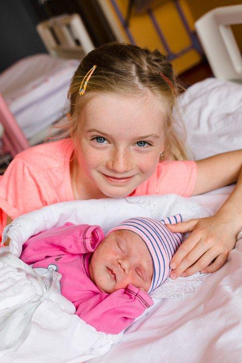 JUSTÝNKA se narodila 9. května ve 21.18 hodin rodičům Nadě a Jiřímu. Spolu se sourozenci Alexandrou a Jiřím bude mít domov ve Vrchlabí.