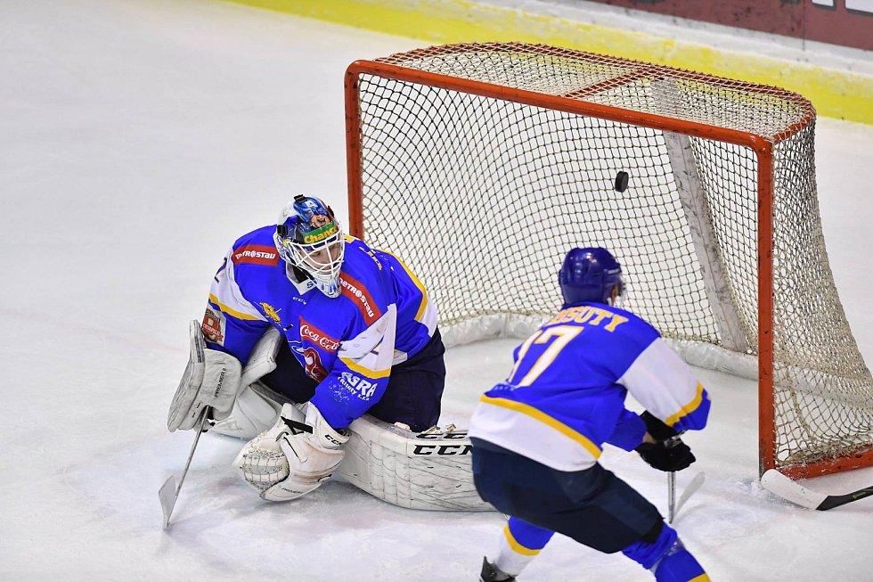 Vrchlabští hokejisté ve 38. kole II. ligy dosáhli rekordního vítězství v sezoně
