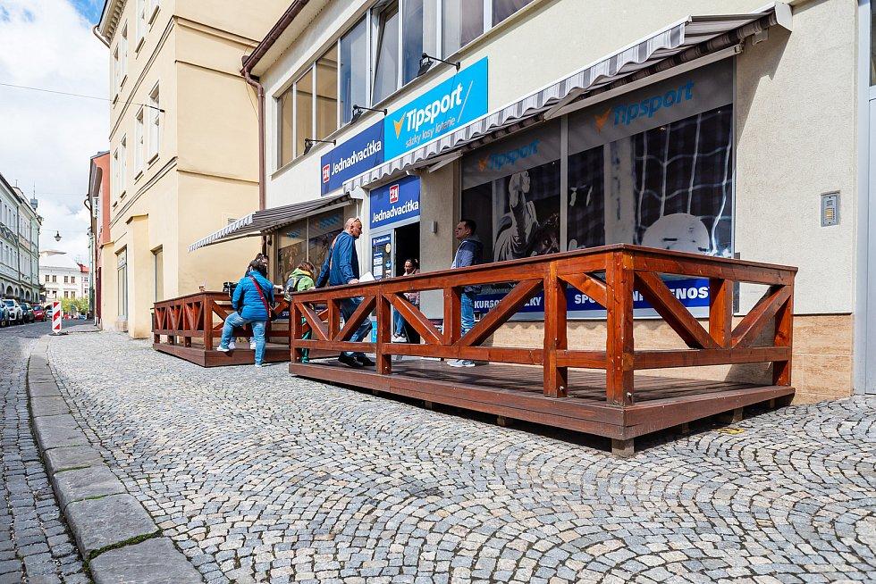 Sport bar Jednadvacítka v centru Trutnova.