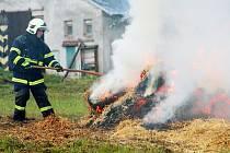 Požár seníku v Markoušovicích