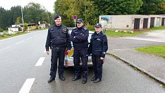 Společná česko-polská hlídka dohlížela o víkendu na horách na dodržování pravidel silničního provozu.