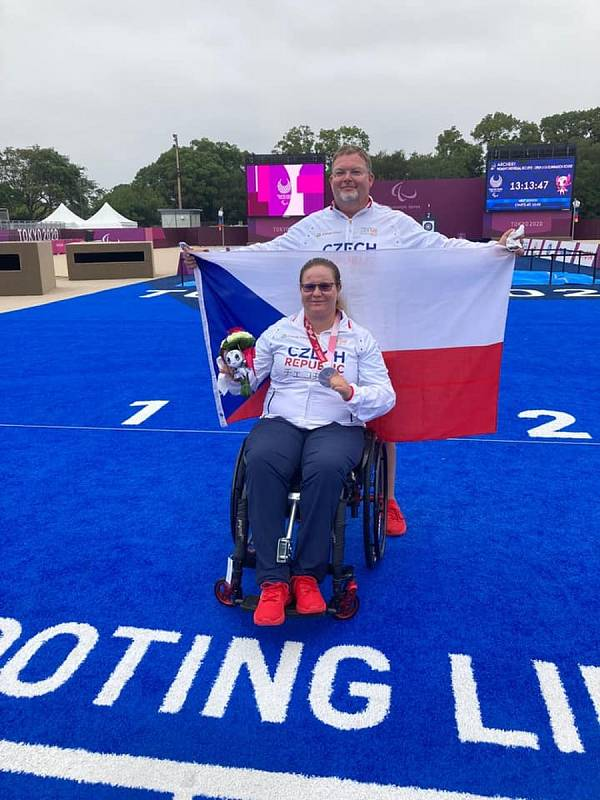 Šárka Musilová z Trutnova získala na paralympijských hrách v Tokiu dvě stříbrné medaile.