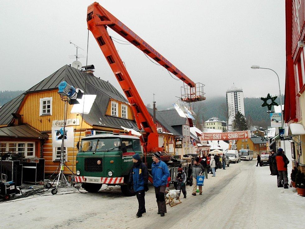 Začátek natáčení filmu Sněženky a machři 2
