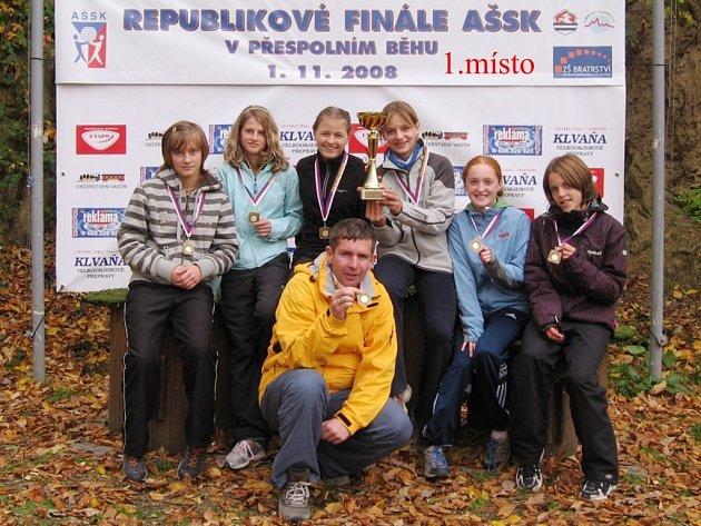 Přespolní běh - žákyně ZŠ Komenského Jilemnice