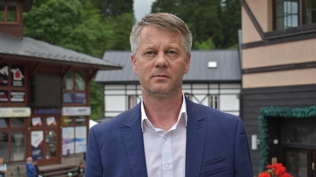 Starosta Špindlerova Mlýna Vladimír Staruch.