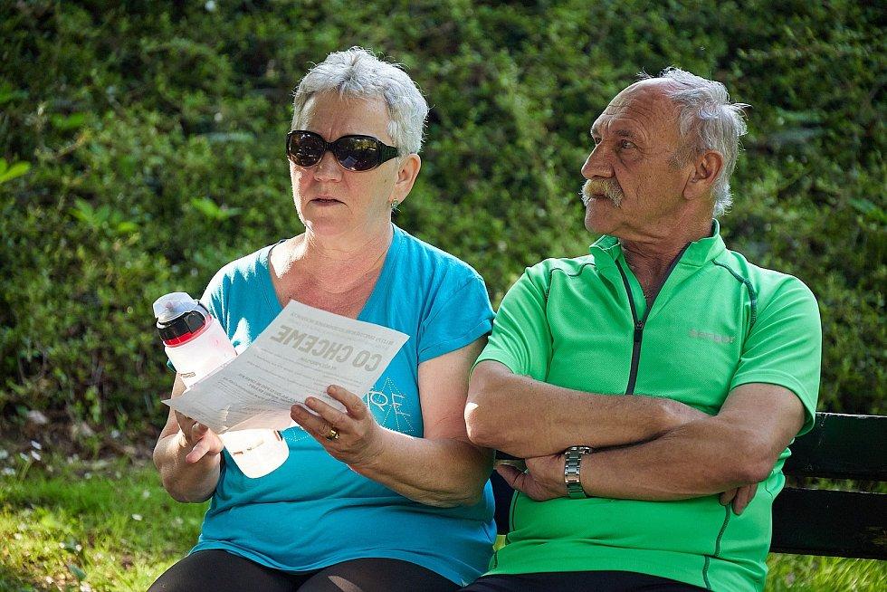 Úterní akce Milionu chvilek v Trutnově v městském parku byla velmi komorní.