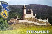 Podoba štěpanického hradu kolem roku 1400. Tři staletí na něm vládli Valdštejnové.