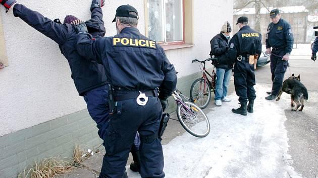 Ilustrační foto - zátah policie