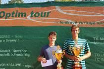 Finalisté mužské dvouhry Tadeáš Paroulek a Antonín Štěpánek.
