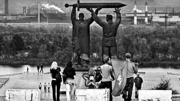 NA TŘICET fotografií života v Rusku za uplynulých pětadvacet let je v současné době k vidění v Dolní Brusnici.