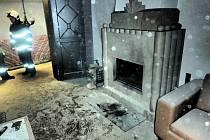 V rodinném domě hořelo od krbu. Škoda je 100 tisíc korun.
