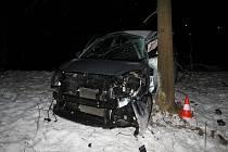 Čtvrteční nehoda v Rudníku.