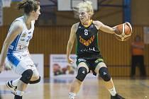 V prvním utkání čtvrtfinále play-off Ženské basketbalové ligy Žabiny Brno porazily Lokomotivu Trutnov 78:44.