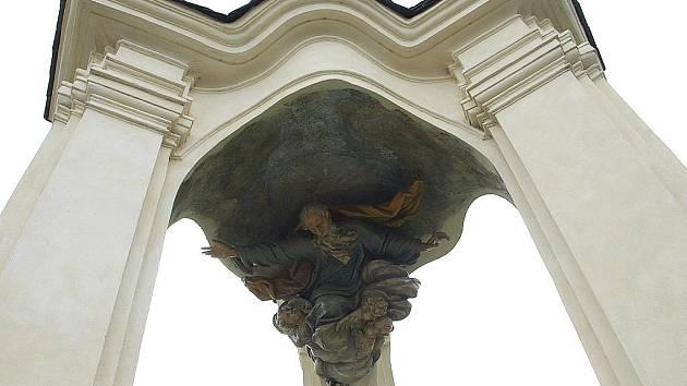 Trojboká barokní kaple v Žirči